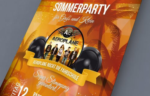 Sommerparty Flyer