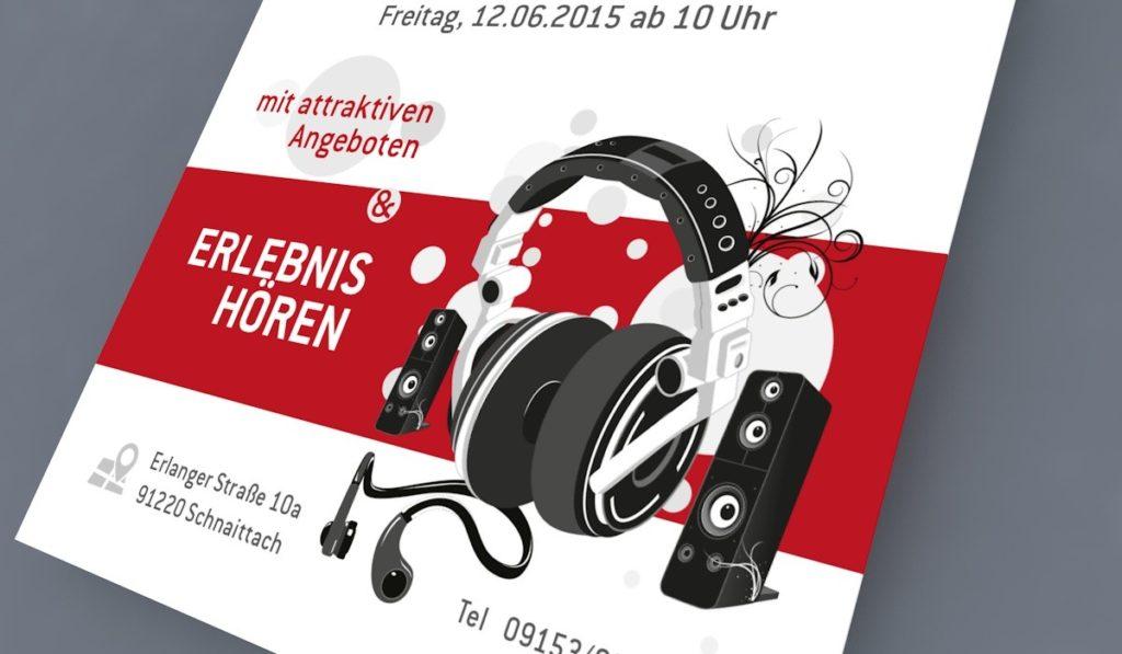 Hörgeräteakustik Flyer zur Eröffnung