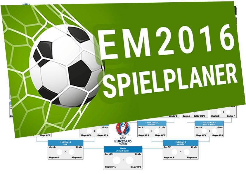 Spielplaner zur EM 2016