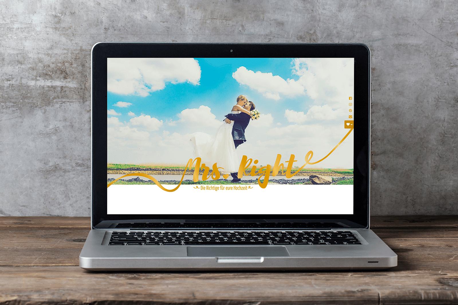 Hochzeitsplanerin Mrs. Right mit neuem Webauftritt
