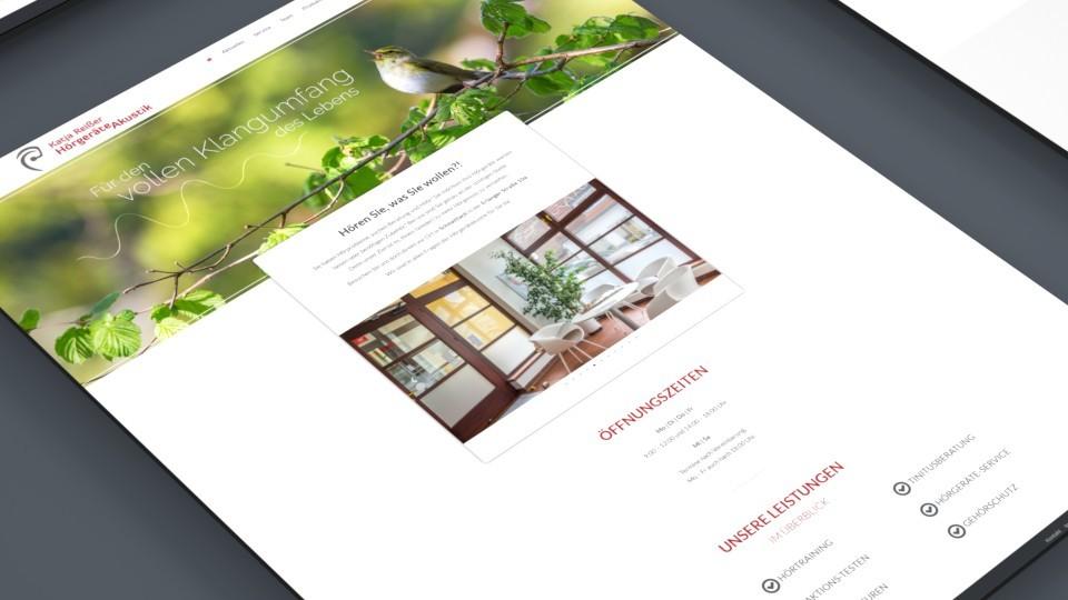 Website Hörgeräteakustik